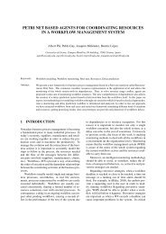 petri net based agents for coordinating resources in a ... - UdG