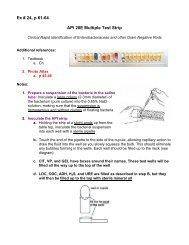 Ex 24 cover sheet API 20E Multiple Test Strip - De Anza College