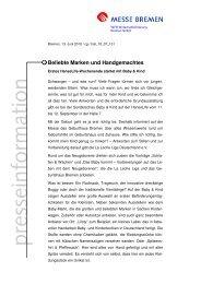 Beliebte Marken und Handgemachtes - Messe Bremen