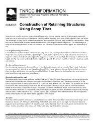 Construction of Retaining Structures Using Scrap Tires