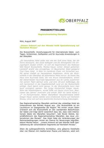 PRESSEMITTEILUNG - Die Wutzschleife