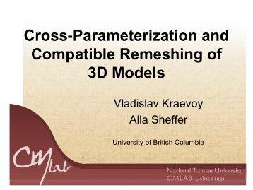 Cross-Parameterization - Computer Graphics Laboratory