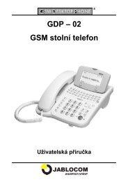 GDP – 02 GSM stolní telefon - Jablocom