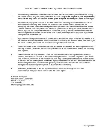 Download a pdf file of the vaccine information sheet and consent form.