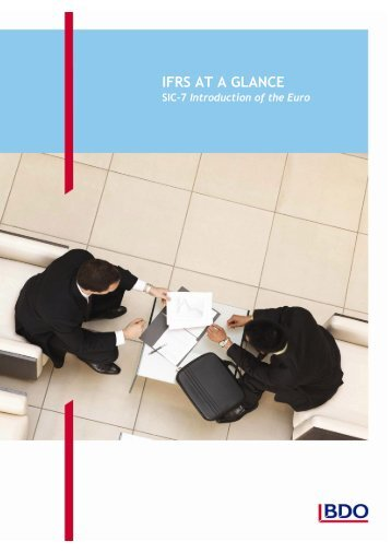 IFRS at a Glance - SIC 7: Introduction of the Euro - BDO International