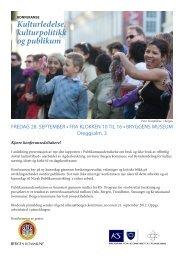 Kulturledelse, kulturpolitikk og publikum - Norsk publikumsutvikling