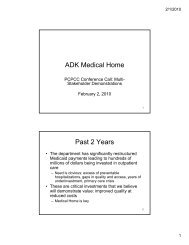 ADK Medical Home Past 2 Years - About Medical Home