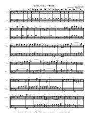 Violin/Cello Parts - Free Choral Music: J. Ashley Hall