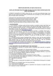 prefeitura municipal de santa cruz do sul edital de processo seletivo ...