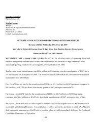1/11 Investor Inquiries: IR@netsuite.com Media Contact: Mei Li ...