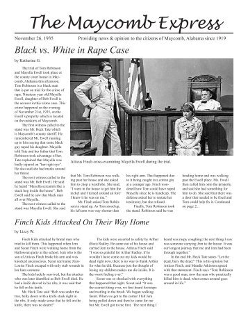 The Maycomb Express Black vs. White in Rape Case