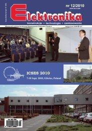 Elektronika 2010-12 I.pdf - Instytut Systemów Elektronicznych ...