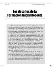 Los desafíos de la Formación Inicial Docente - Revista Docencia