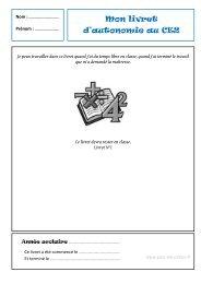 Mon livret d'autonomie au CE2 - Pass Education