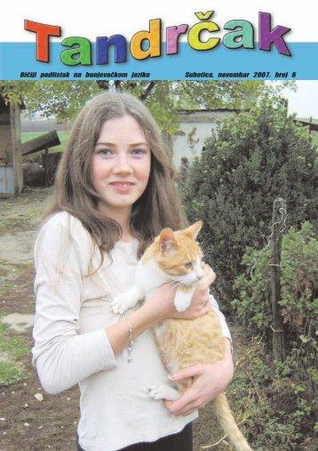 Di~iji podlistak na bunjeva~kom jeziku Subotica, novembar 2007 ...
