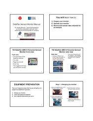 SidePak Aerosol Monitor Manual - Campaign for Tobacco-Free Kids