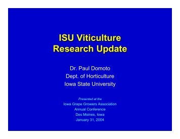 Slides 1-10 - Viticulture Iowa State University