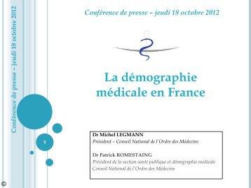 Synthèse Atlas 2012 - Conseil National de l'Ordre des Médecins