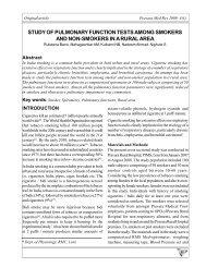 study of pulmonary function tests among smokers and non-smokers ...