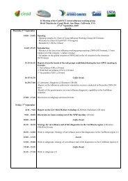 CaribVET steering Committee Draft agenda