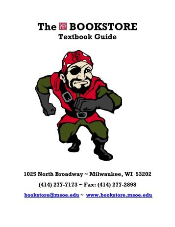Textbook Guide - MSOE Bookstore