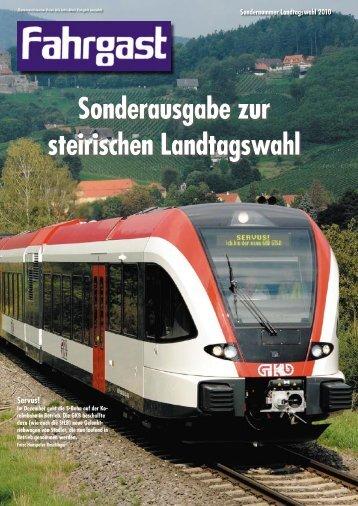 Sonderausgabe zur Landtagswahl 2010 - FAHRGAST Steiermark