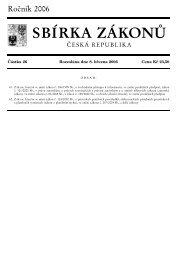 Zákon č. 61/2006 Sb., kterým se mění
