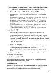 Attributions et composition du Comité National et des Comités ...