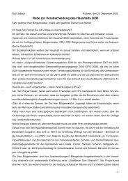 Rede zur Verabschiedung des Haushalts 2006 - SPD Pulheim