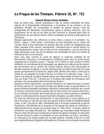 Fragua 722 - Universidad Autónoma de Ciudad Juárez