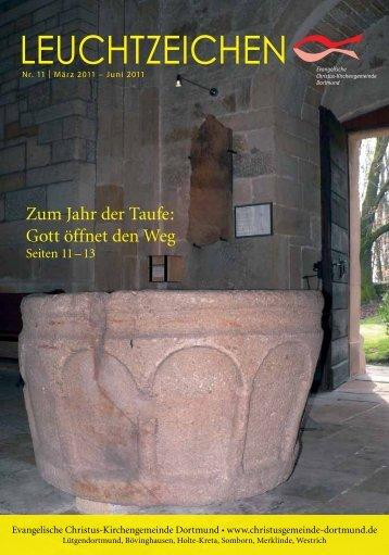 Leuchtzeichen Nr 11. vom März 2011 (1,8 - Evangelische Christus ...