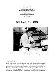 Willi Hennig - Mathematisch-Naturwissenschaftliche Fakultät