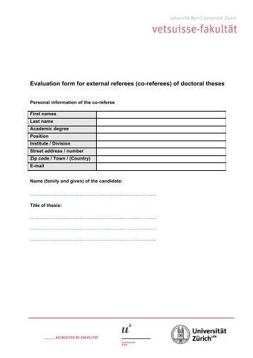 Evaluation form for external referees (co-referees) of doctoral theses