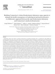 Building Connecticut's clinical biodosimetry laboratory surge ...