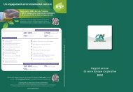 Rapport annuel 2012 - Crédit Agricole Alpes Provence