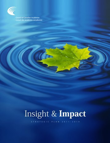 Insight & Impact - Council of Canadian Academies