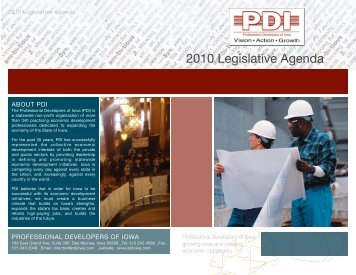 PDI Legislative Agenda - Professional Developers of Iowa