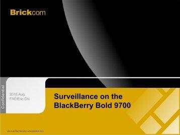 Surveillance on the BlackBerry Bold 9700 - ELV