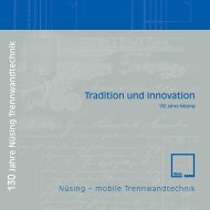 Tradition und Innovation - Nüsing
