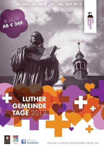 Luther GeMeinde taGe 2013
