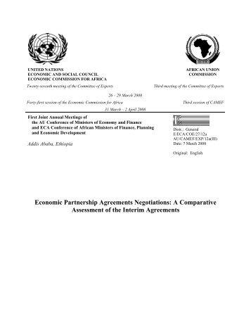 Economic Partnership Agreements Negotiations - United Nations ...