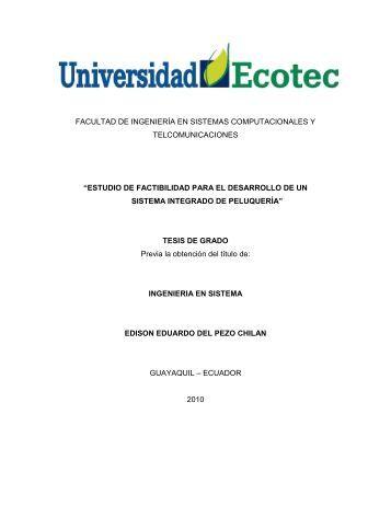 estudio de factibilidad para el desarrollo de un sist