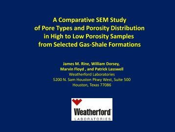 A Comparative SEM Study of Pore Types and Porosity Distribution in ...