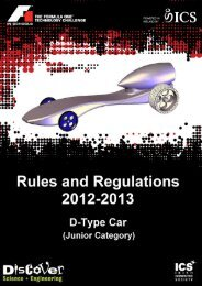 Rules and Regulations: D-Type Car - F1 in Schools