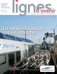 Lignes d'avenir Centre-Limousin n°1 - RFF