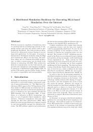 A Distributed Simulation Backbone for Executing HLA-based ...