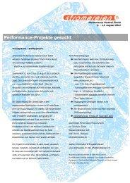Performance-Projekte gesucht - brut Wien