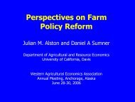 Perspectives on Farm Policy Reform - Center for Agricultural and ...