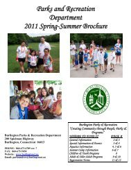 Parks And Recreation Department 2011 Spring-Summer Brochure