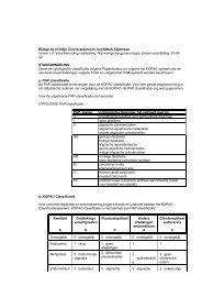 Bijlage bij richtlijn Cervixcarcinoom, hoofdstuk Algemeen - Oncoline